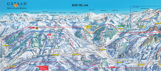 Map Gstaad Mountain Rides